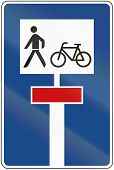 stock photo of walking dead  - German traffic sign - JPG