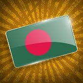 pic of bangladesh  - Flag of Bangladesh with old texture - JPG