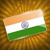 stock photo of civil war flags  - Flag of India with old texture - JPG