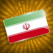pic of tehran  - Flag of Iran with old texture - JPG