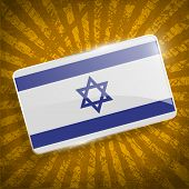 pic of israeli flag  - Flag of Israe with old texture - JPG