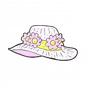 picture of crazy hat  - retro comic book style cartoon summer hat - JPG