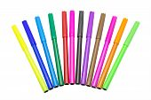 image of marker pen  - Colorful markers pens Multicolored Felt Pens draw line - JPG