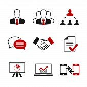 picture of conversation  - Business simple vector icon set  - JPG