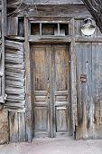 picture of wooden door  - Obsolete wooden door of very old house in Astrakhan - JPG