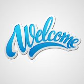 picture of letter  - Welcome  hand lettering - JPG