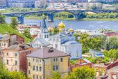 pic of prophets  - Top view center Nizhny Novgorod confluence rivers Volga Oka attractions Church Elijah Prophet   - JPG
