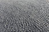 stock photo of paving stone  - the old  paving stone walkway abstract background - JPG