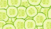 foto of cucumber  - fresh and ripe cucumber slice for background - JPG