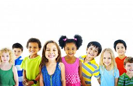 picture of children group  - Ethnicity Diversity Group of Kids Friendship Cheerful Concept - JPG