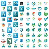 Large Set Of Vector Logos Security Guarantees And Insurance poster