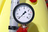 foto of vacuum pump  - Pressure Gauge Manometer at Agricultural Machinery Equipment - JPG