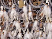 pic of dream-catcher  - Native American dream catchers with feathers at the bottom - JPG