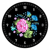 stock photo of face painting  - Russian style clock face - JPG