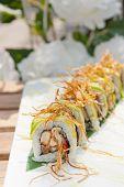 picture of sushi  - fresh made Japanese sushi rolls called Maki Sushi - JPG