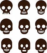 foto of day dead skull  - Black skull set - JPG