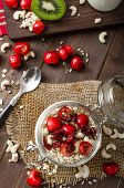 image of wonderful  - Domestic cherry yogurt with wonder chia seeds and granula - JPG