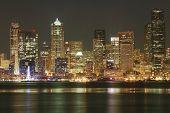 foto of washington skyline  - Seattle Skyline - JPG