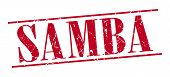 pic of samba  - samba red grunge vintage stamp isolated on white background - JPG