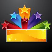 image of shooting stars  - An image of a shooting star banner - JPG