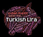 foto of turkish lira  - Turkish Lira Representing Turkey Liras And Foreign - JPG