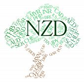 image of nzd  - Nzd Currency Representing New Zealand Dollars And New Zealand Dollars - JPG