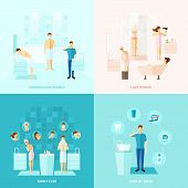 foto of personal care  - Personal and family care teeth care colored flat icons set isolated vector illustration - JPG