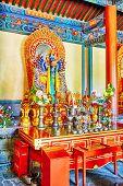 picture of lamas  - Interior view of Yonghegong Lama Temple - JPG
