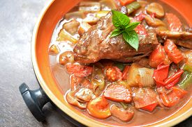 picture of lamb shanks  - Lamb shank in gravy with mix vegetable - JPG