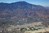 Aerial of Palm Springs Airport and San Jacinto Mountains
