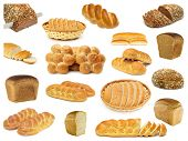 set breads isolated on a white