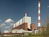 Power station. Industrial production. A panorama