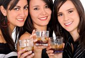 pic of ladies night  - girls drinking whiskey and having fun on a night out - JPG