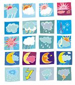stock photo of waterspout  - Weather colorful icons.