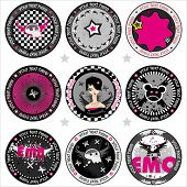 Vector Emo drink coasters. . To see similar, please VISIT MY GALLERY.