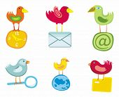 Set of birds icons for website, icons for network, vector illustration.  To see similar, please VISI