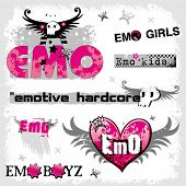 Emo logos 1. To see similar, please VISIT MY GALLERY.