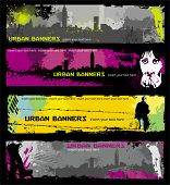 Grunge stylish urban banners.  To see similar, please VISIT MY GALLERY.