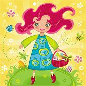 Funny Easter girl. To see similar, please VISIT MY GALLERY.