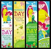Colorful Banners for Mother's day with copyspace.