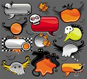 Halloween speech bubbles - vector set of design elements. To see similar,  please VISIT MY PORTFOLIO