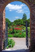 Summer Garden Through Archway
