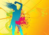 Illustration of a female dancing with fresh elements