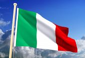 Italy Flag (Clipping Path)
