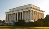 image of abraham lincoln memorial  - The Lincoln Memorial in Washington DC USA - JPG