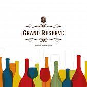 Wine list design. Vector brochure template for wine shop, winery, wine list, cafe, restaurant, bar.  poster