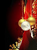 image of christmas greeting  - beautiful vector christmas artistic background - JPG