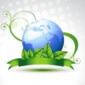 Постер, плакат: красивые векторные земли с листьями