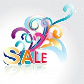 vector sale background art with floral around it
