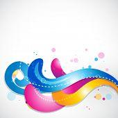 stylish muti-colorful floral design. Eps10 background